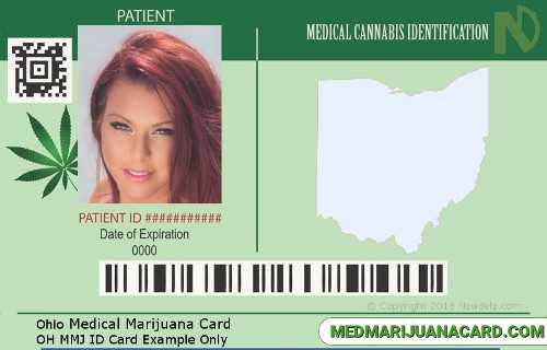 Ohio Medical Marijuana Card Example