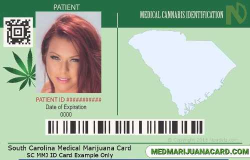 South Carolina Med Marijuana Card Example
