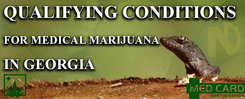 Georgia marijuana qualifying conditions